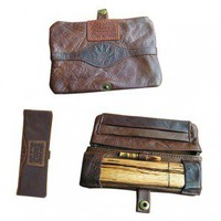 Original Kavatza Roll Pouch - Cannaboy - Brown Leather With Embossed Pot Leaf Belt - Small - Without Carb Hole - Glass Bongs - Bongs and Waterpipes - Smoking Pipes - Grasscity.com