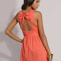 ASOS Tie Neck Open Back Dress at asos.com