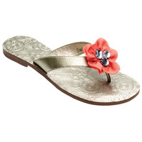 Mary Beth Flip Flop Gold