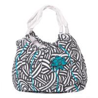 Captiva Hobo Bag Black &amp; White Print