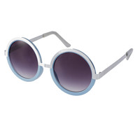 Le Specs Round Sunglasses With Metal Detail