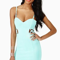 Hot Reaction Dress - Mint