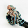Octopus Glass Pipe Spoon Medium Fumed Full color Hand Blown thick wall