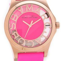 Marc by Marc Jacobs Henry Skeleton Leather Watch | SHOPBOP
