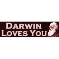 Amazon.com: Darwin Loves You Bumper Sticker: Automotive