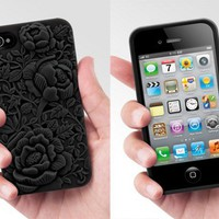Rose Embossing Case for iPhone 4 / 4S