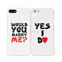 Marry Me Yes I Do Lover&#x27;s Cases for iPhone 5 2 PCS - Vanberry.com