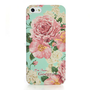 Goegtu Flower Cover Case for iPhone 5 - Turquoise - Vanberry.com