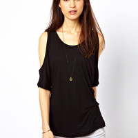 Vila Cold Shoulder T-Shirt