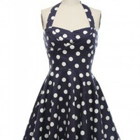 All That Jazz Halter Dress in Navy