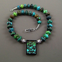 Turquoise Dragonskin Intarsia Necklace Stunning OOAK - N437 | TheSilverBear - Jewelry on ArtFire