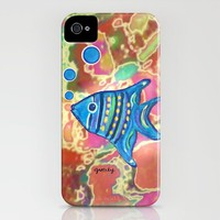Angel Fish iPhone Case by Paintings by gretzky | Society6