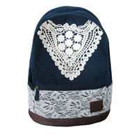 Cute Lace Canvas Backpacks for Women