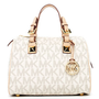 MICHAEL Michael Kors  Grayson Signature PVC Medium Satchel, Vanilla