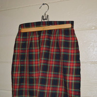 Vintage 1980s Plaid School Girl Skirt Mini Skirt Punk Grunge Plaid Skirt by Smart Parts Size 9