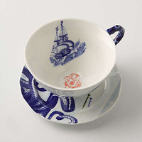 Anthropologie - From The Deep Cup &amp; Saucer
