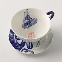Anthropologie - From The Deep Cup & Saucer