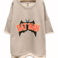 Batman Free Style Cutton Hoodie/Tshirt For Women