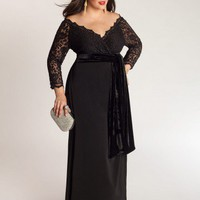 Anastasia Plus Size Gown in Onyx