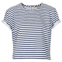 MOTO Stripe Denim T Shirt - Clothing - Topshop
