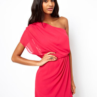 ASOS Mini Dress With Drape One Shoulder