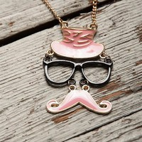 Master of Disguise Mustache Necklace - Pink from Jewelry & Accessories at Lucky 21 Lucky 21