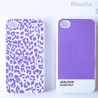 iPhone 4 Case for friendship purple leopard and by BlissfulCASE
