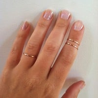 3 Layering Mid Knuckle Rings