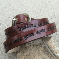 Personalized Triple Wrap Leather wristband by leathermadenice