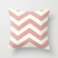 Plum Chevron Throw Pillow by secretgardenphotography [Nicola]