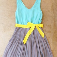 Clearwater Colorblock Dress in Mint [2540] - $42.00 : Vintage Inspired Clothing & Affordable Fall Frocks, deloom | Modern. Vintage. Crafted.