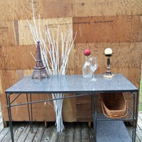 Vintage Retro Metal Desk for Bar Office and Home Decor | thesewingcottage - Furniture on ArtFire