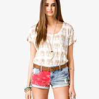 Scoop Neck Elephant Top | FOREVER 21 - 2000039843