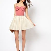 Paprika Bow Front Dress at asos.com