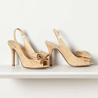 Anthropologie - Tipped Bow Slingbacks