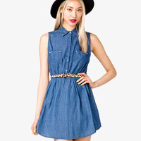 Bolt Studded Denim Dress