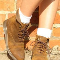 Dr Martens Chelsea Style Suede Brown Boots Size 6 from Boutique 73