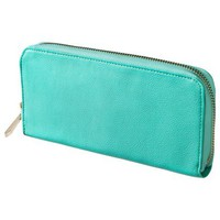 Merona® Solid Zip Around - Turquoise