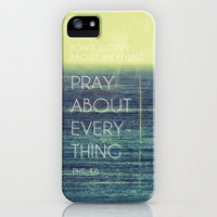 Phillipians 4:6 iPhone & iPod Case by Pocket Fuel