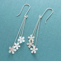 Three blossom earrings