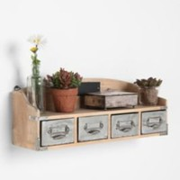 Vintage Card Catalog Shelf