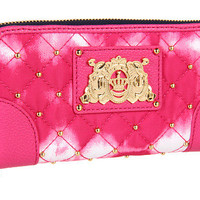 Juicy Couture Zip Wallet Upscale Quilted Nylon