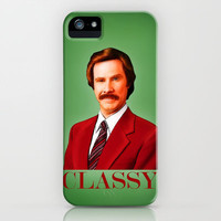 THE LEGEND OF RON BURGUNDY - Anchorman iPhone &amp; iPod Case by John Medbury (LAZY J Studios)
