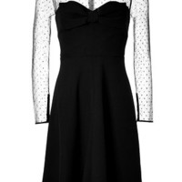 Valentino - Black Dotted Silk Dress