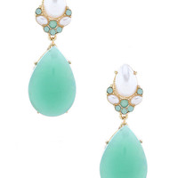 Mint Moon Earrings – Modeets.com