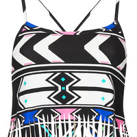 Fringe Aztec Bralet - New In This Week - New In - Topshop