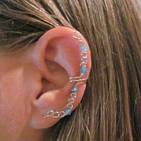 "Non Pierced ""Faery Circle"" Crystal Ear Wrap Cuff Color Choices"