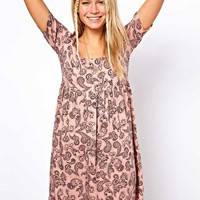 ASOS Smock Dress In Paisley Print at asos.com