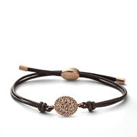 JF00118 - Glitz Disc Wrist Wrap - Rose