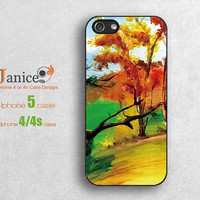 iphone 4 cases Yellow tree design iphone case 5, iphone 4  4s cases, ,iphone 4 cover , iphone  4 cases,unique design  Iphone 4 cases B0093